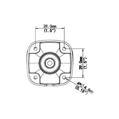 IP kamera IPW-2122-40C výkres rozměry zadní pohled