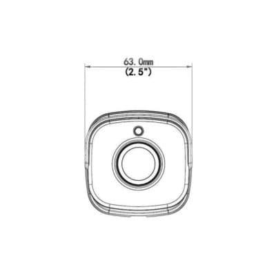 kamera IPW-2122-40C výkres rozměry přední pohled