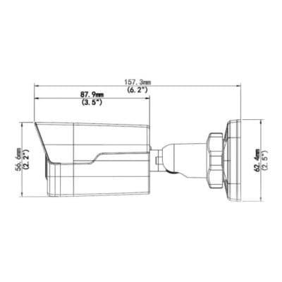kamera IPW-2122-40C výkres rozměry boční pohled