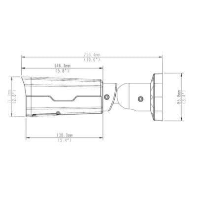 IPW-2222 výkres rozměry boční pohled