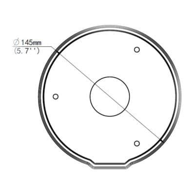 JB04-IN výkres rozměry spodní pohled