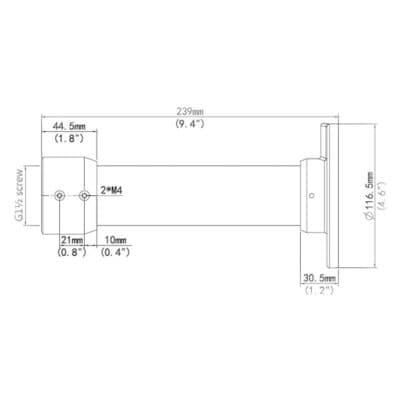 Svislá konzole TR-CE45-IN rozměry