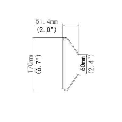 rozměry vertikální konzole TR-UP08-A-IN