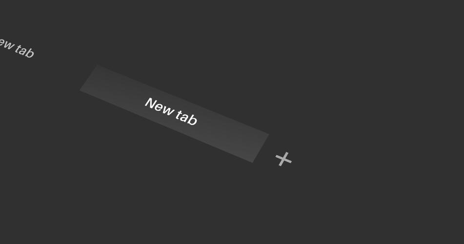 Ilustrativní obrázek funkce New tab