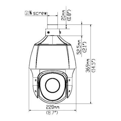 rozměry kamery PTZ-6322_DUPC
